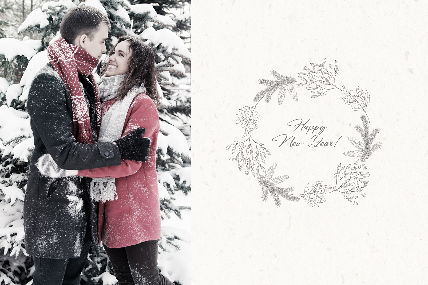 Christmas Time. Winter Bouquets. example image 7