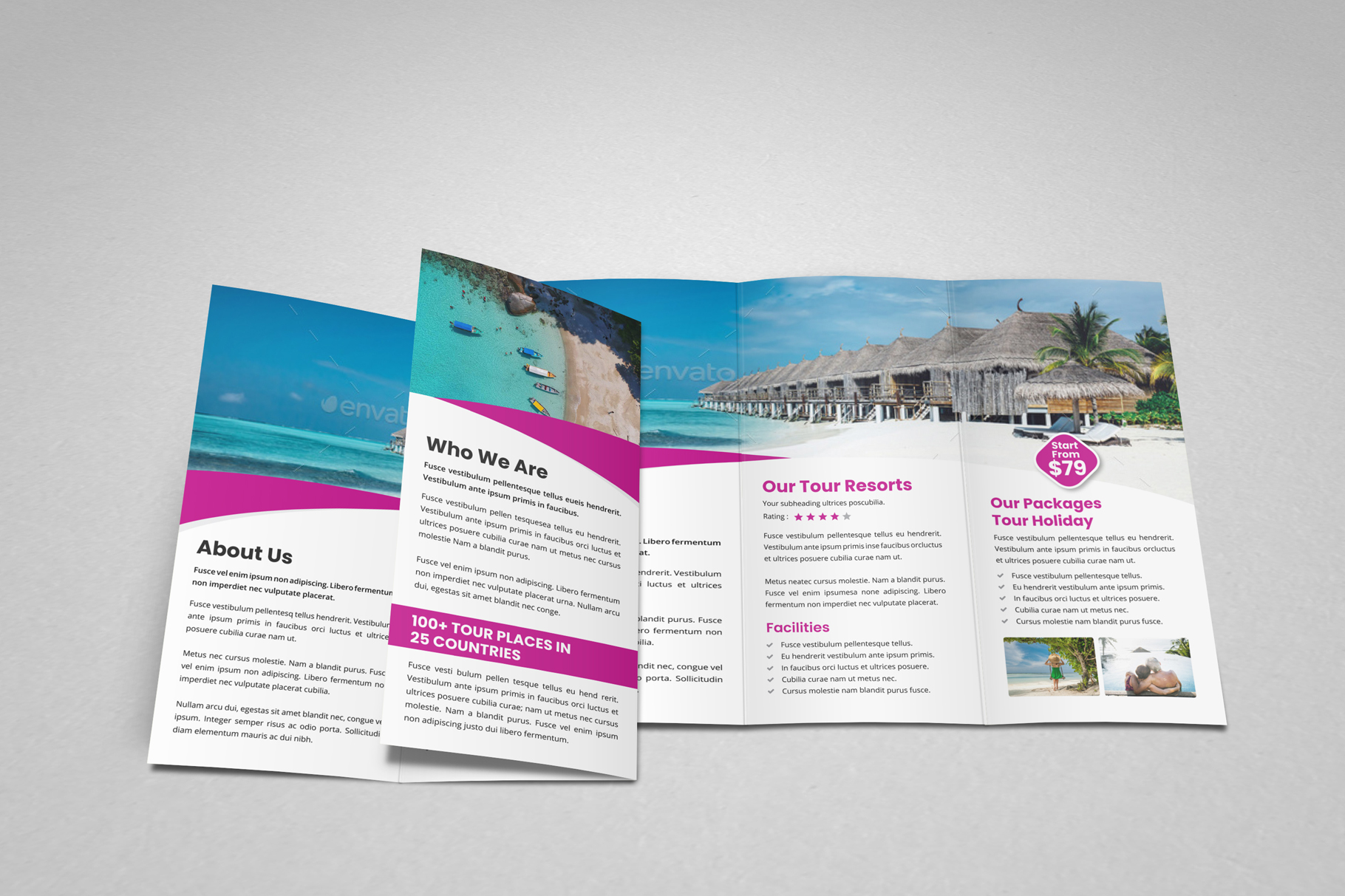 Travel Resort Trifold Brochure v3 example image 9