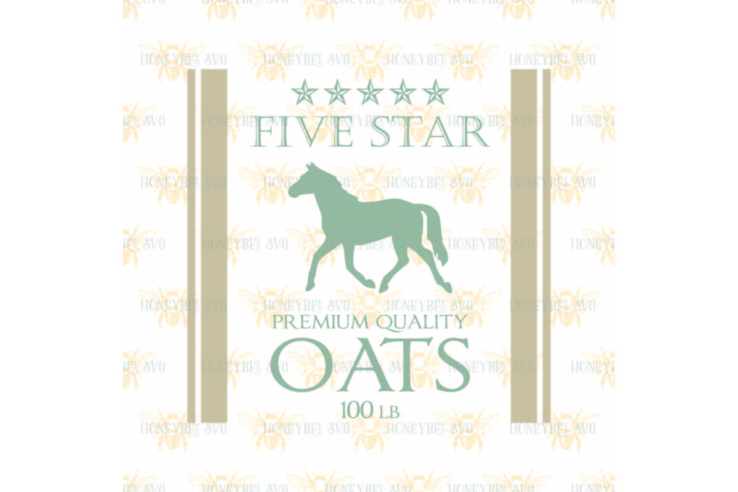 Five Star Oats svg example image 2