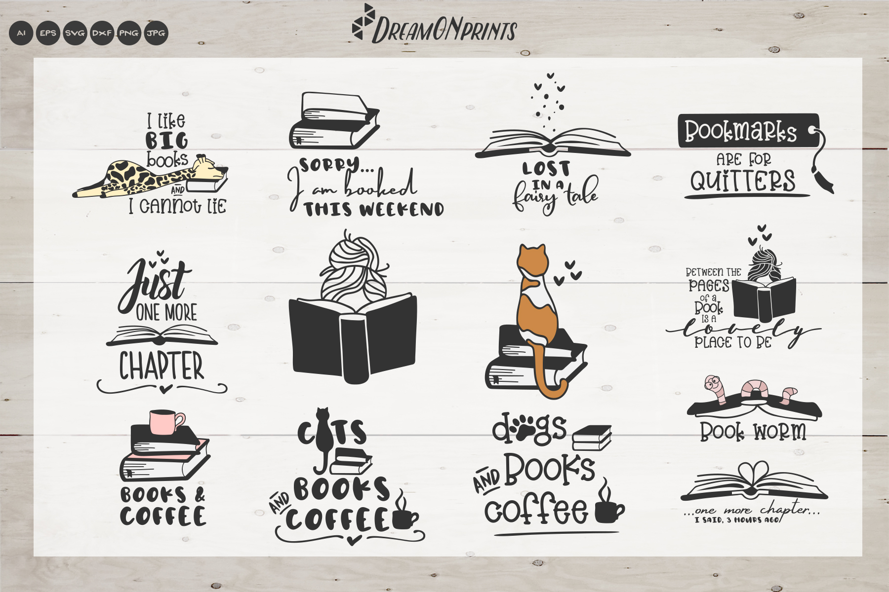 The Book Lover | Funny SVG Bundle example image 2