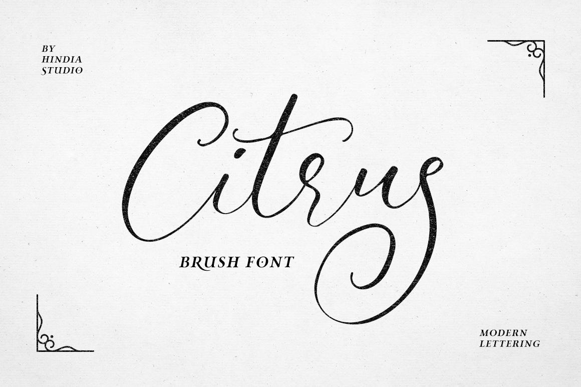 Citrus Script example image 1