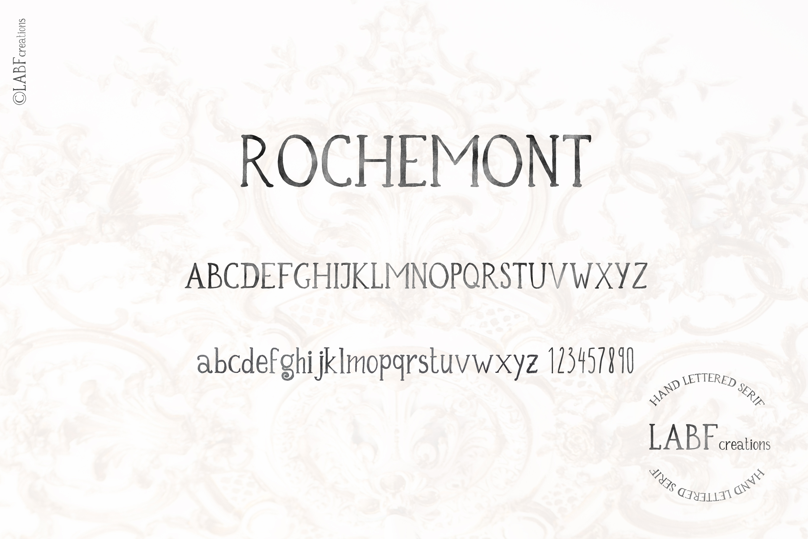 Rochemont. Classic and rustic Hand lettered serif font example image 7
