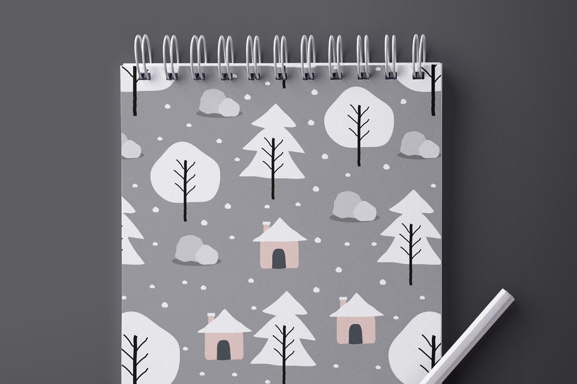Winter - Seamless Patterns example image 5