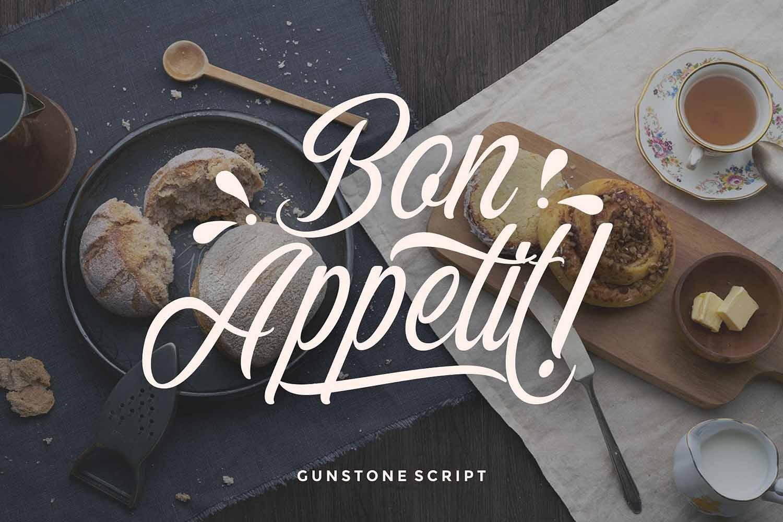 Gunstone Script example image 4