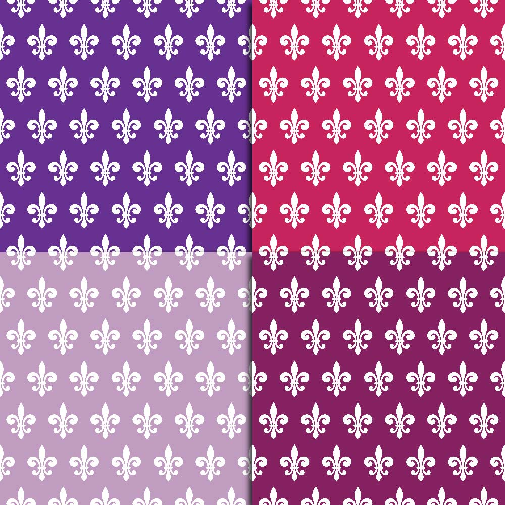 Fleur de Lis Digital Paper example image 4