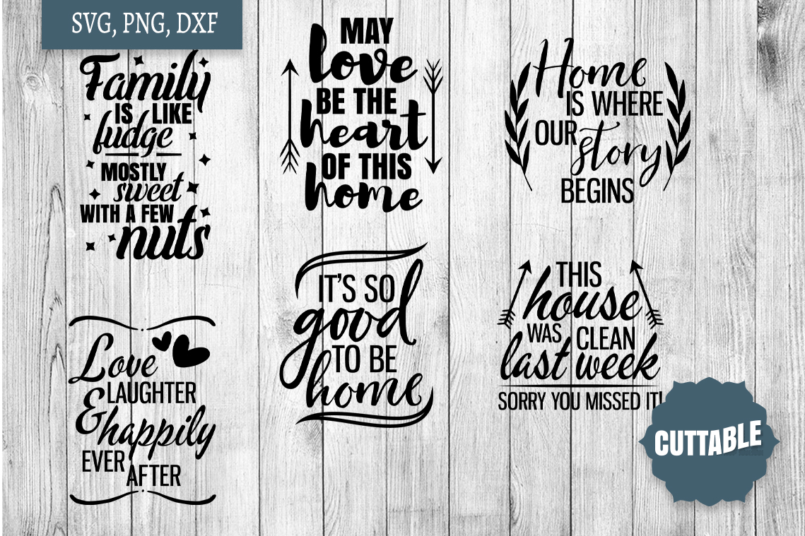 Home SVG bundle, Family quote cut file bundles, Home svgs example image 2
