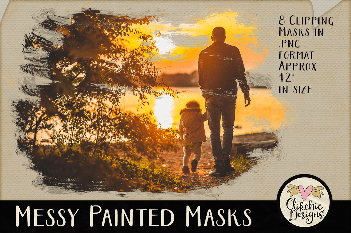 Clipping Masks - Messy Painted Photo Masks & Tutorial example image 3