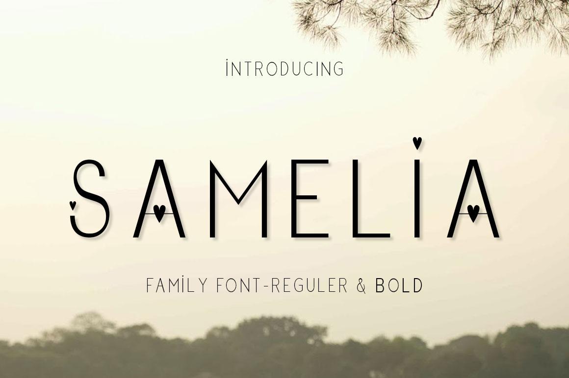 Samalia Family Font example image 1