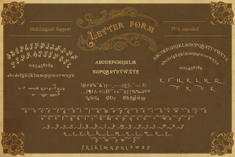 Renaissance Garden - Layered font example image 5