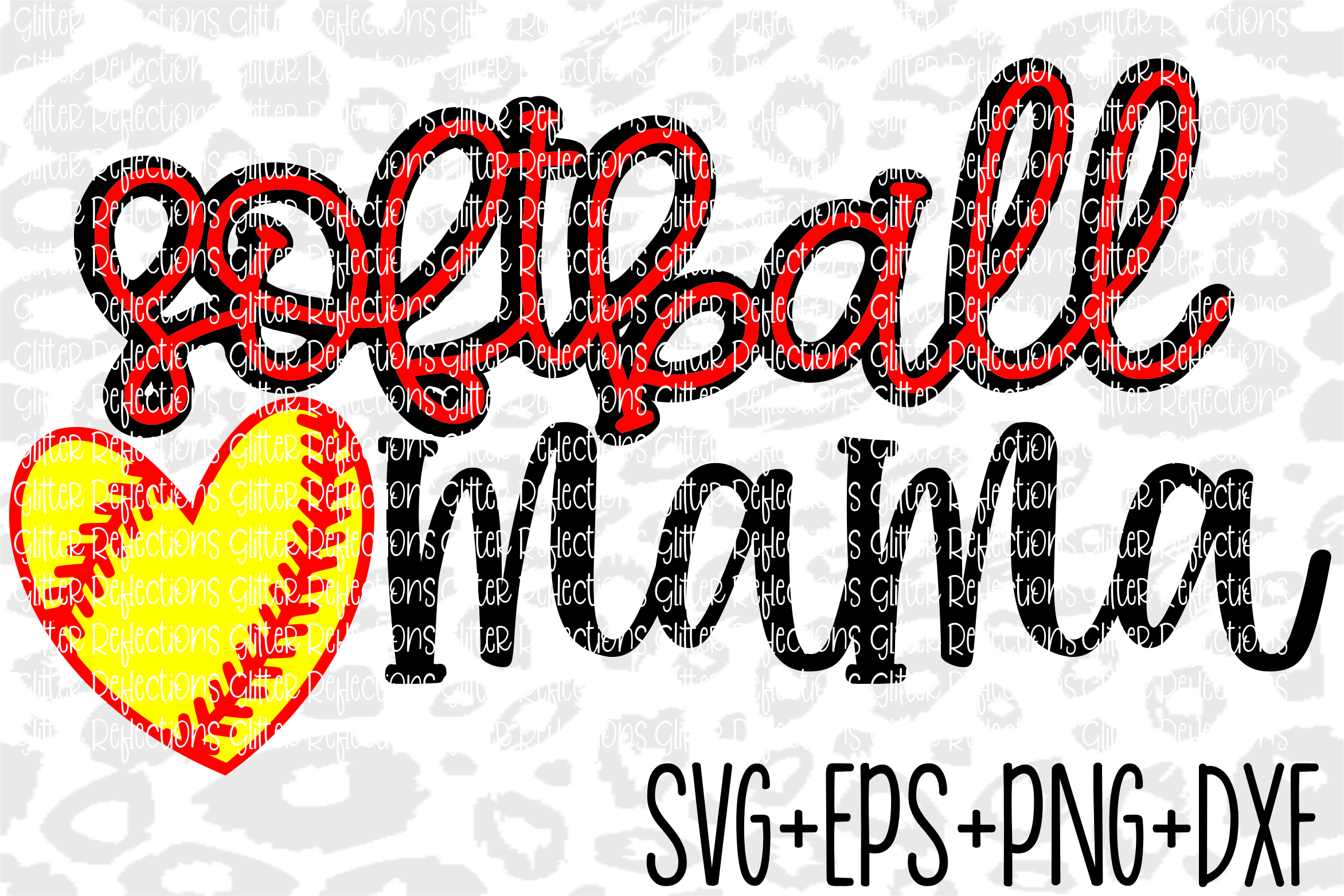 Softball Mama Svg- Softball Svg- Sports Svg example image 1