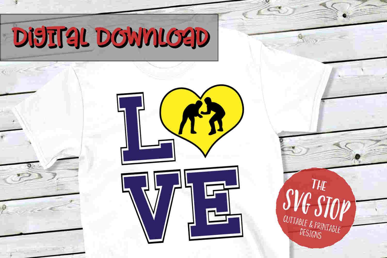Love Wrestling SVG 2-SVG, PNG, DXF example image 1