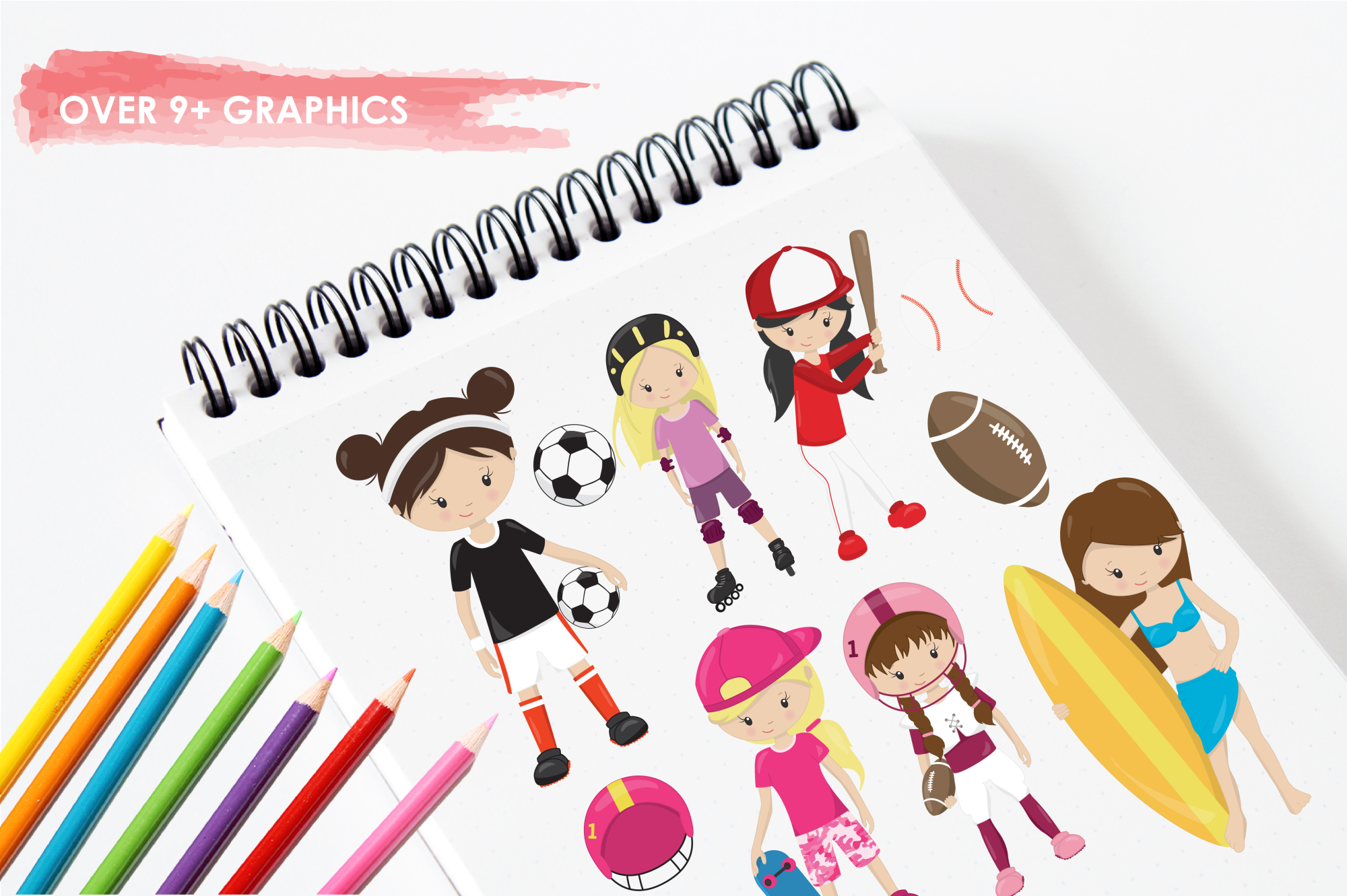 Sport Girls graphics and illustrations example image 3
