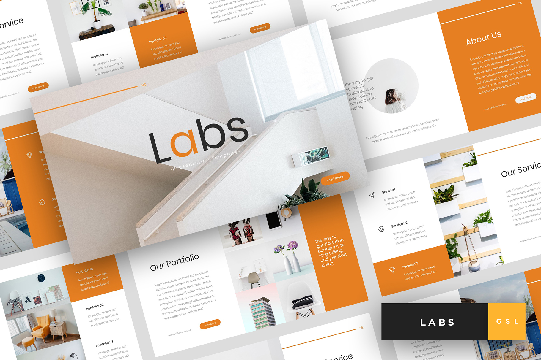 Labs - Creative Google Slides Template example image 1