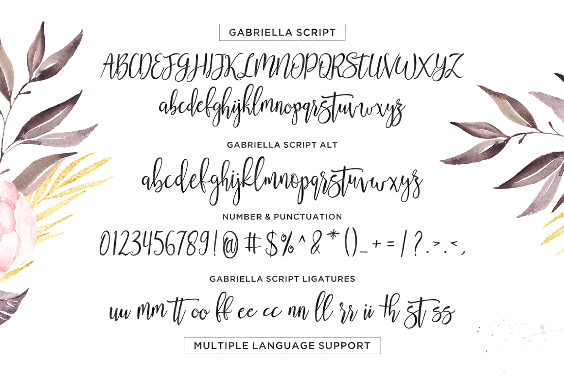 Gabriella Script example image 8