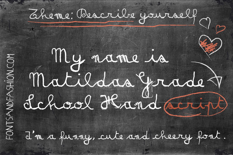 Matildas Grade School Hand_Script example image 1