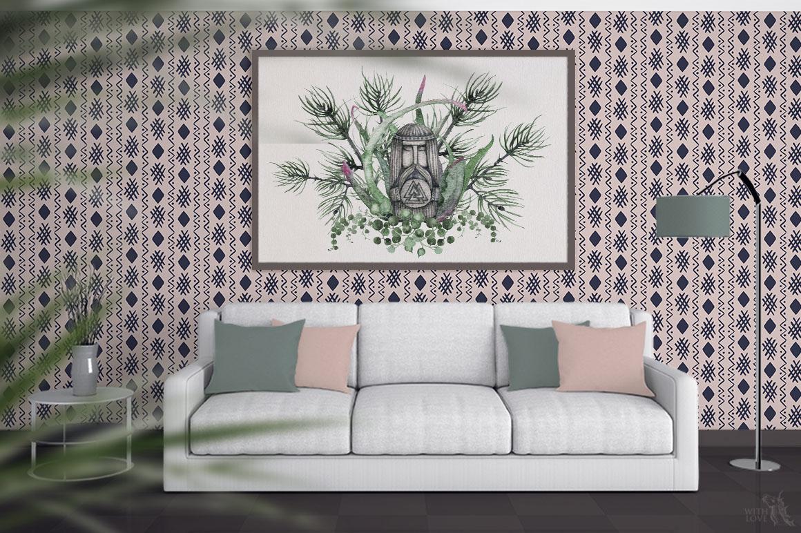 Watercolor Scandinavian Succulents example image 9