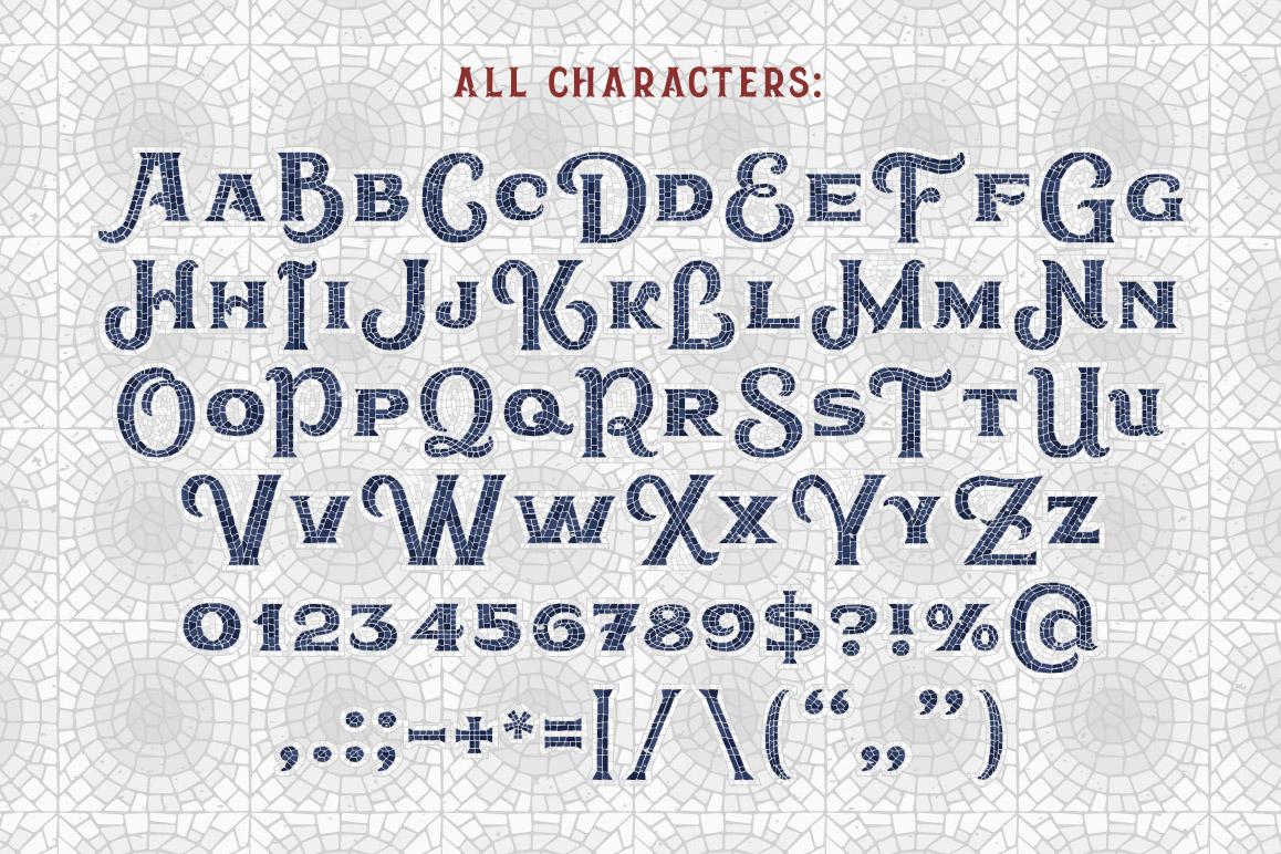 Mosaic Pool Typeface example image 3