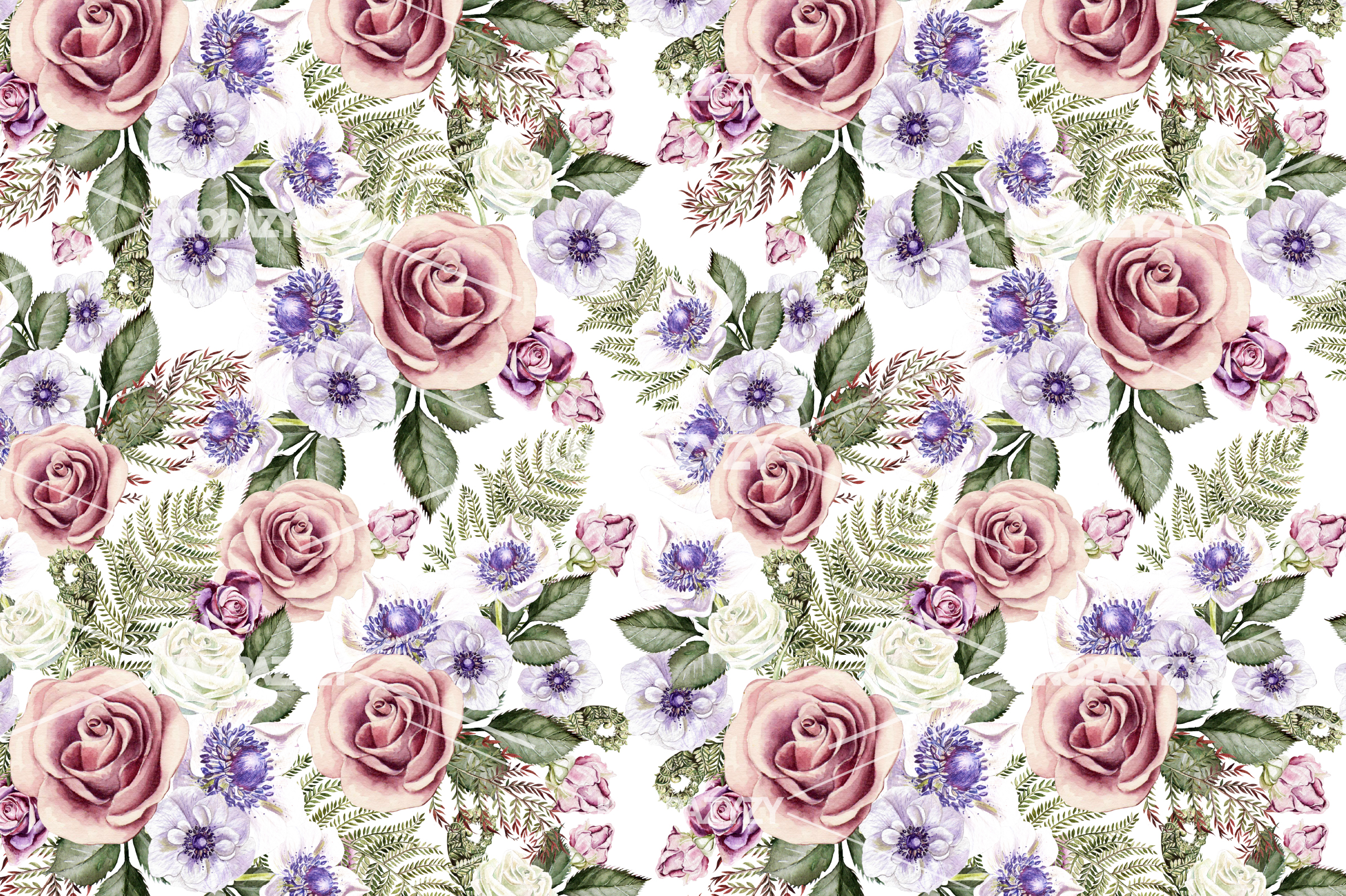 14 Hand drawn watercolor patterns example image 4