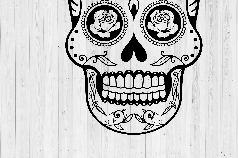 Sugar Skull SVG cut file example image 3