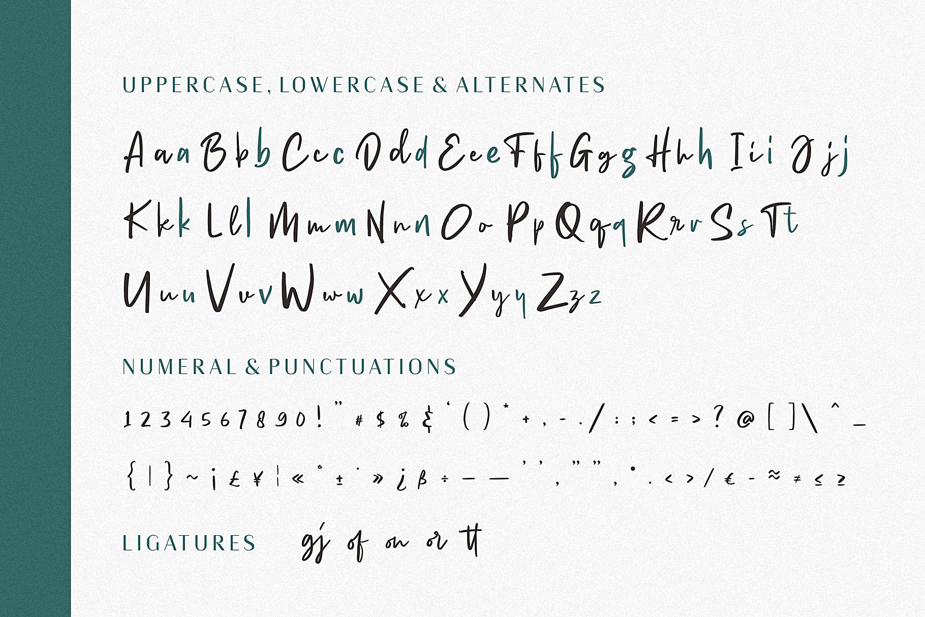 Heinsler | Handwriting Style Font example image 7