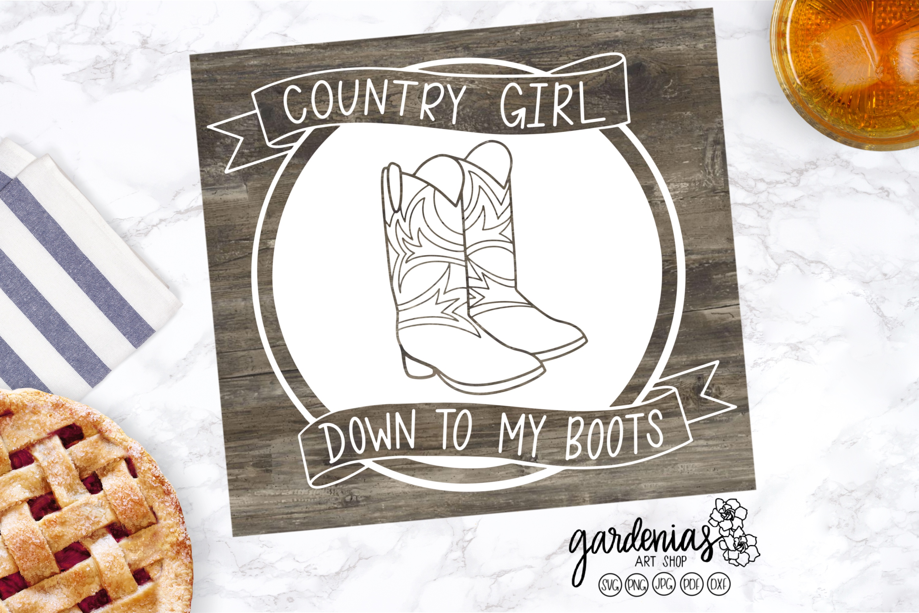 Country Girl SVG | Country Girl Down To My Boots Cut File example image 3