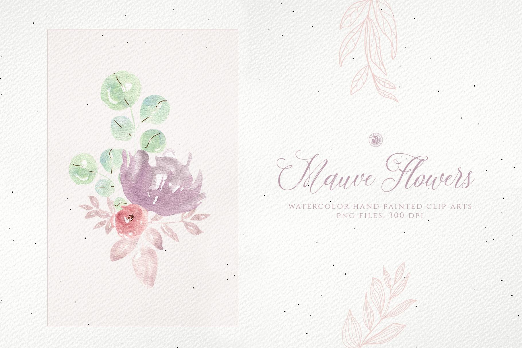 Mauve Flowers example image 4