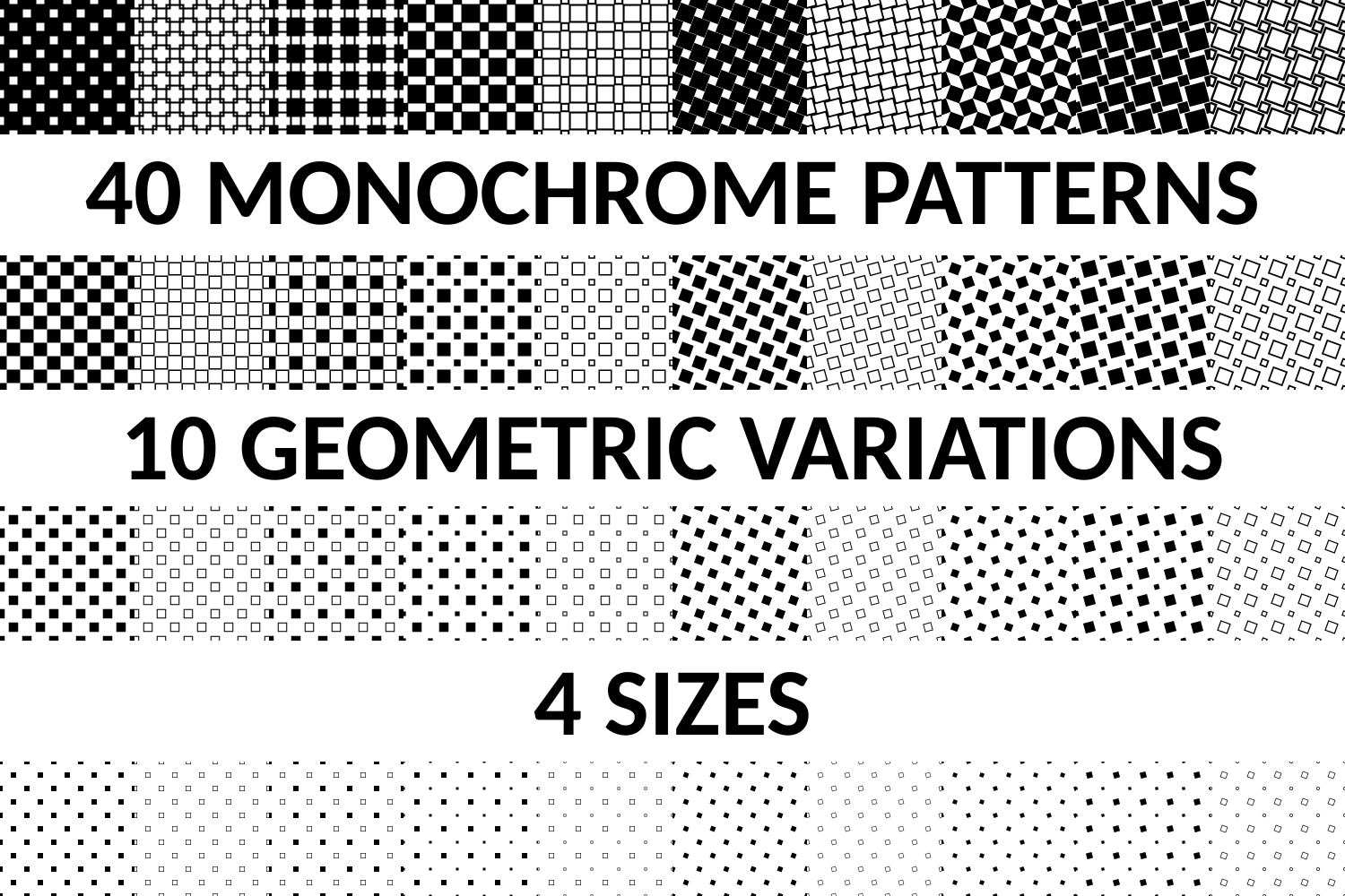 40 Seamless Square Patterns AI, EPS, JPG 5000x5000 example image 3
