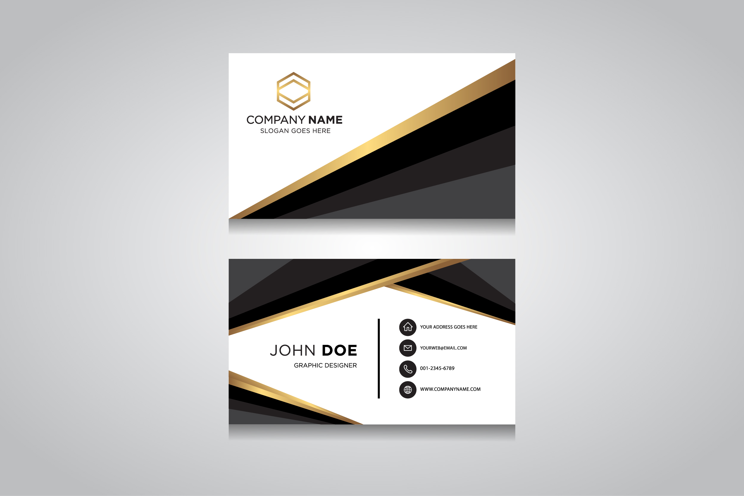 Creative and clean vector business card template creative and clean vector business card template example image 1 flashek Image collections