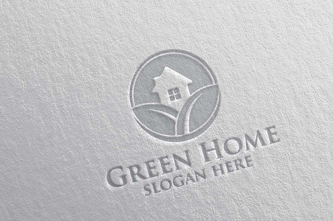 Real estate Logo, Green Home Logo 22 example image 5