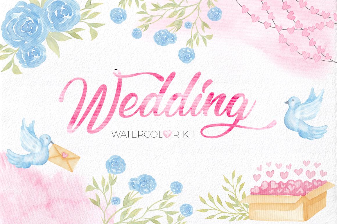 Wedding Watercolor Set example image 1