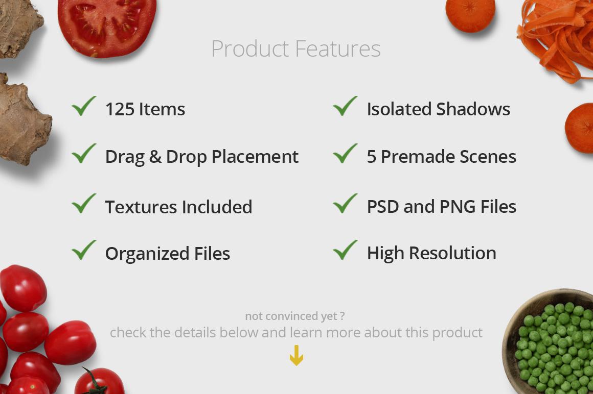 Veggies - Isolated Food Items example image 3