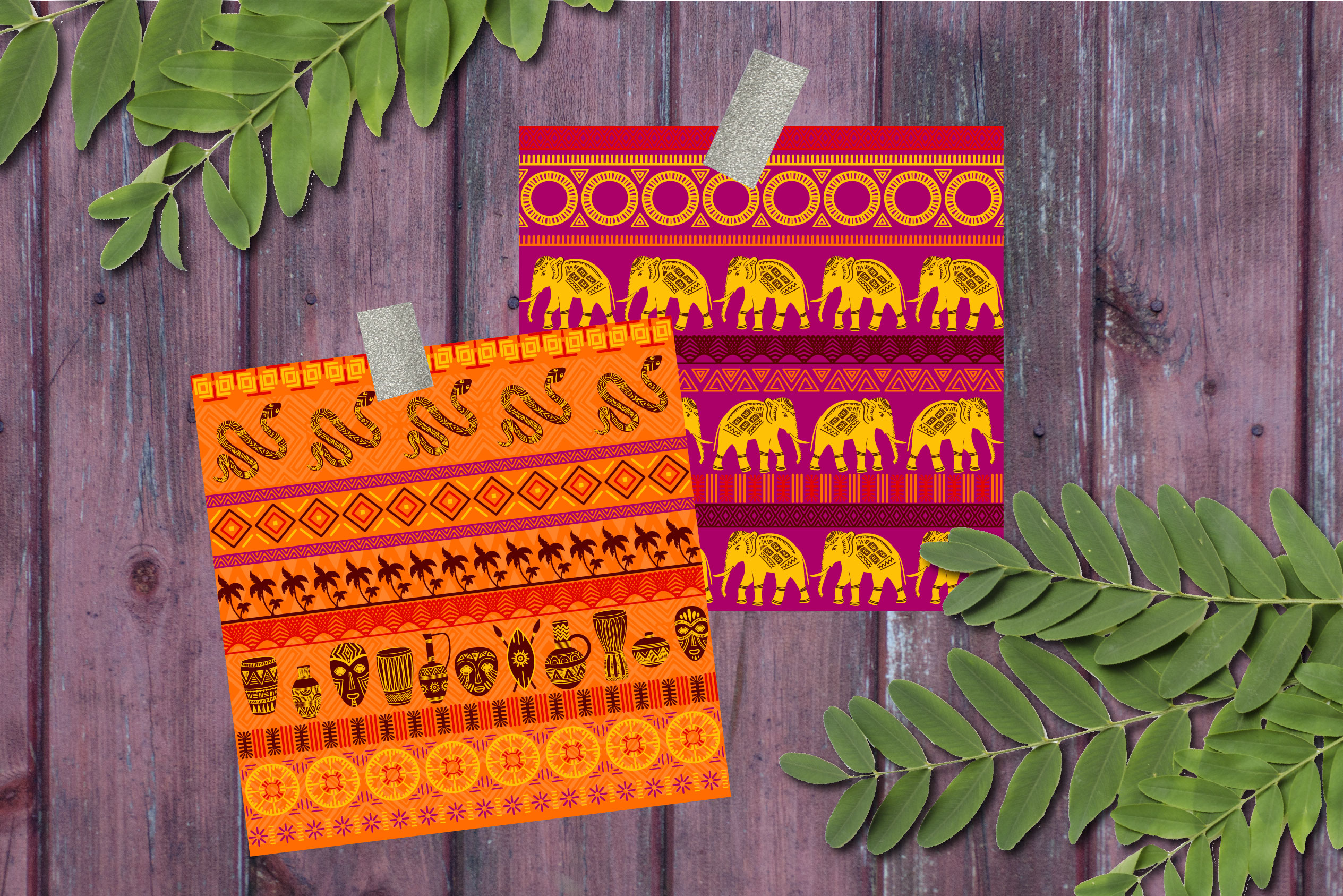 African Patterns Collection example image 3