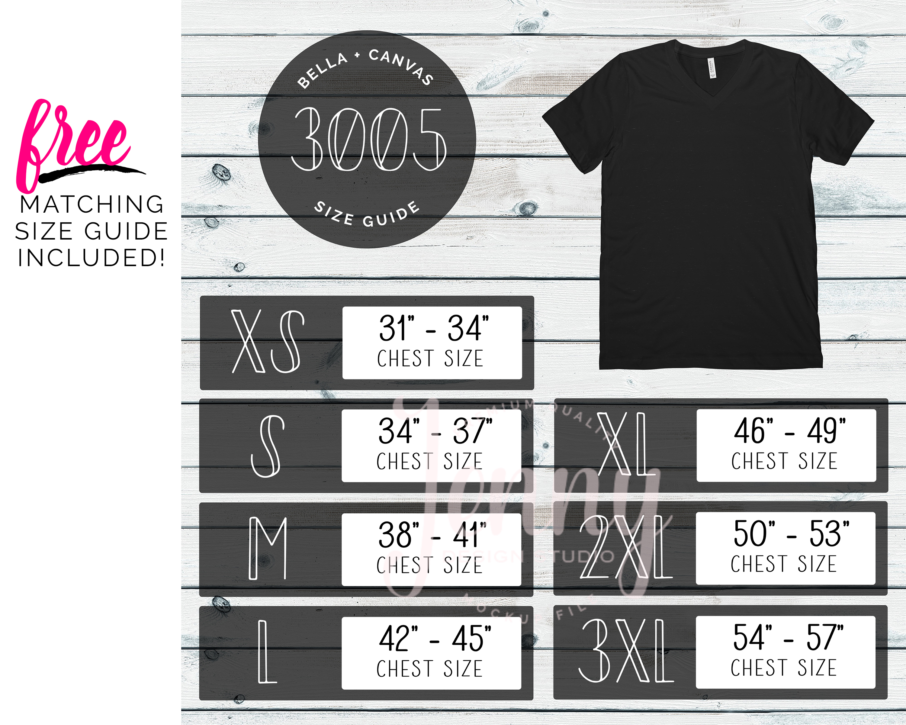 Bella Canvas 3005 Mockup Bundle, V-Neck Tshirt Bundle example image 2