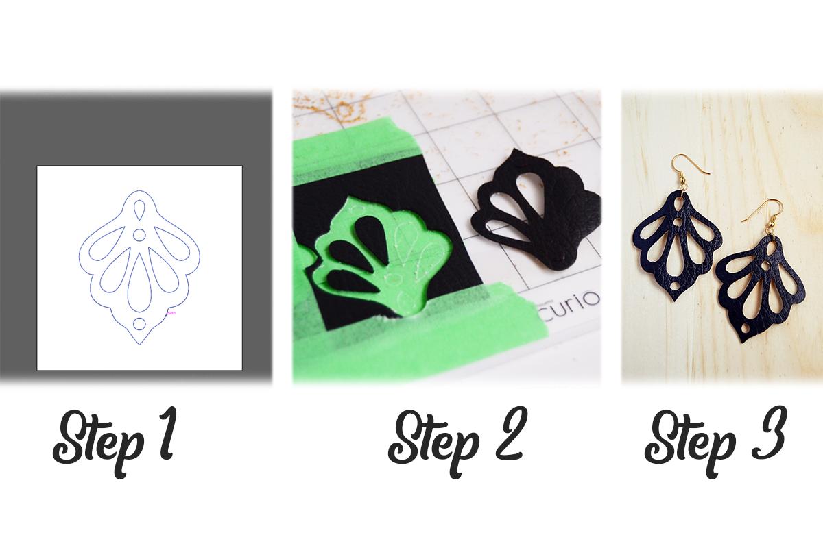 Wood Earrings SVG - Leather Earrings SVG - Earrings Bundle example image 2