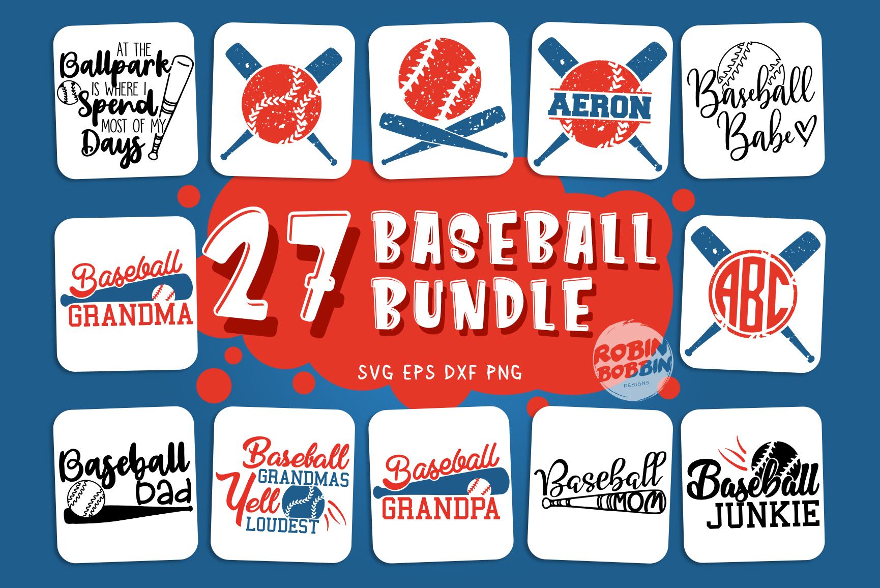 Big Baseball Bundle vol.1 - Baseball SVG Bundle example image 1
