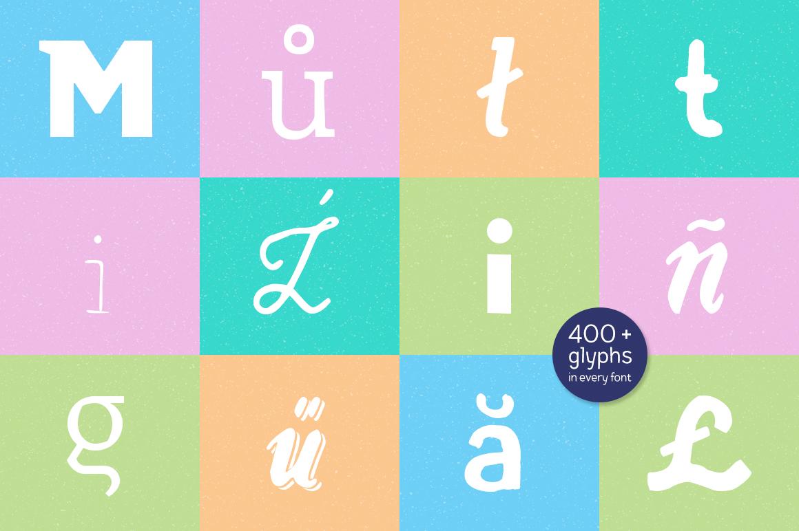 Piñata Font Bundle | 106 fonts example image 7