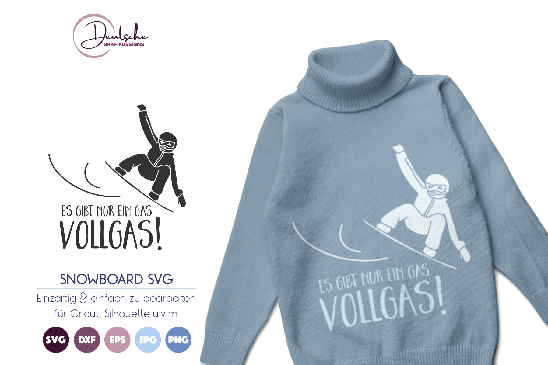 Snowboard SVG | Vollgas example image 1