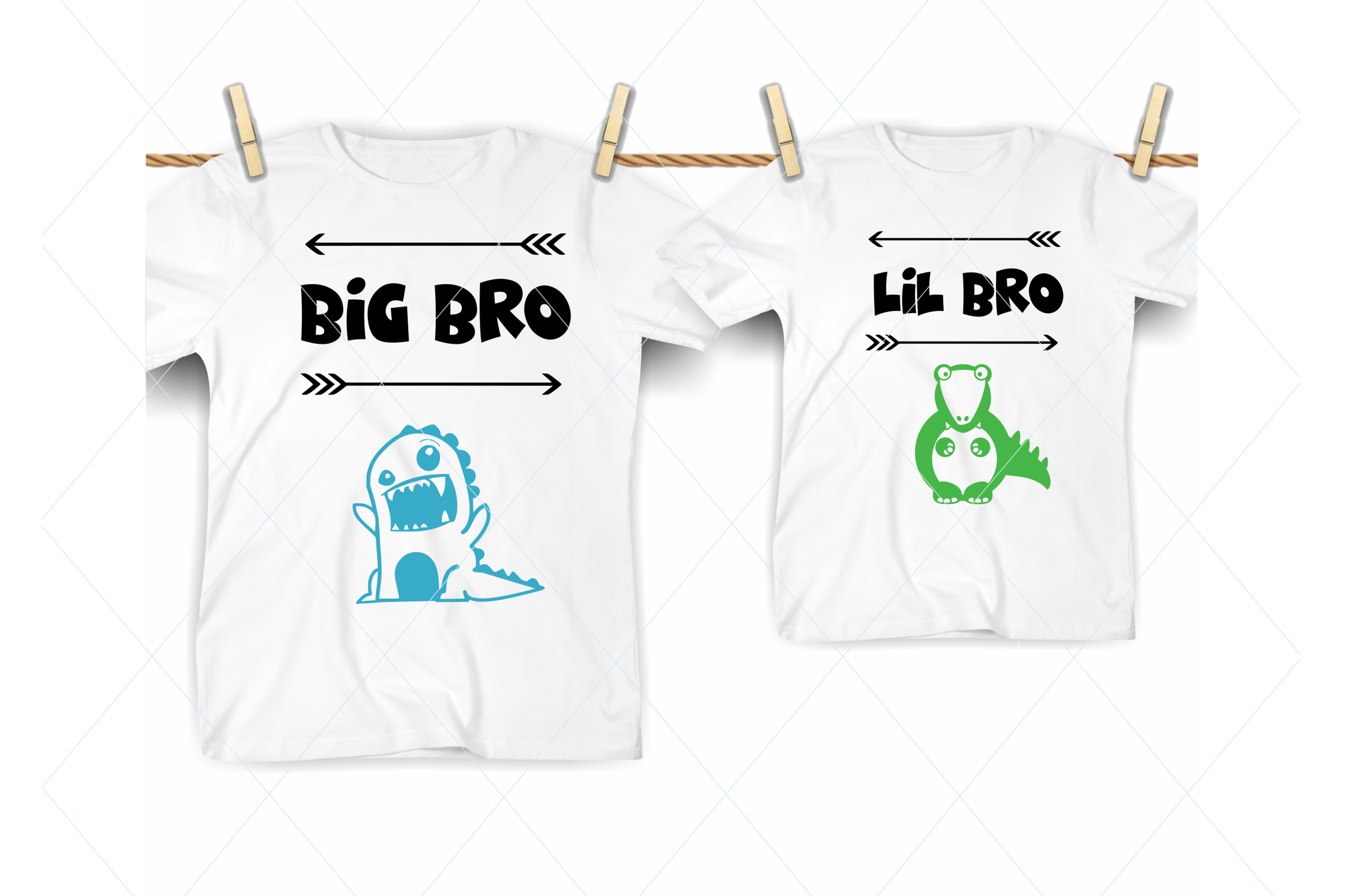 Big bro svg, lil bro svg, brothers cut file, kids shirts svg example image 1