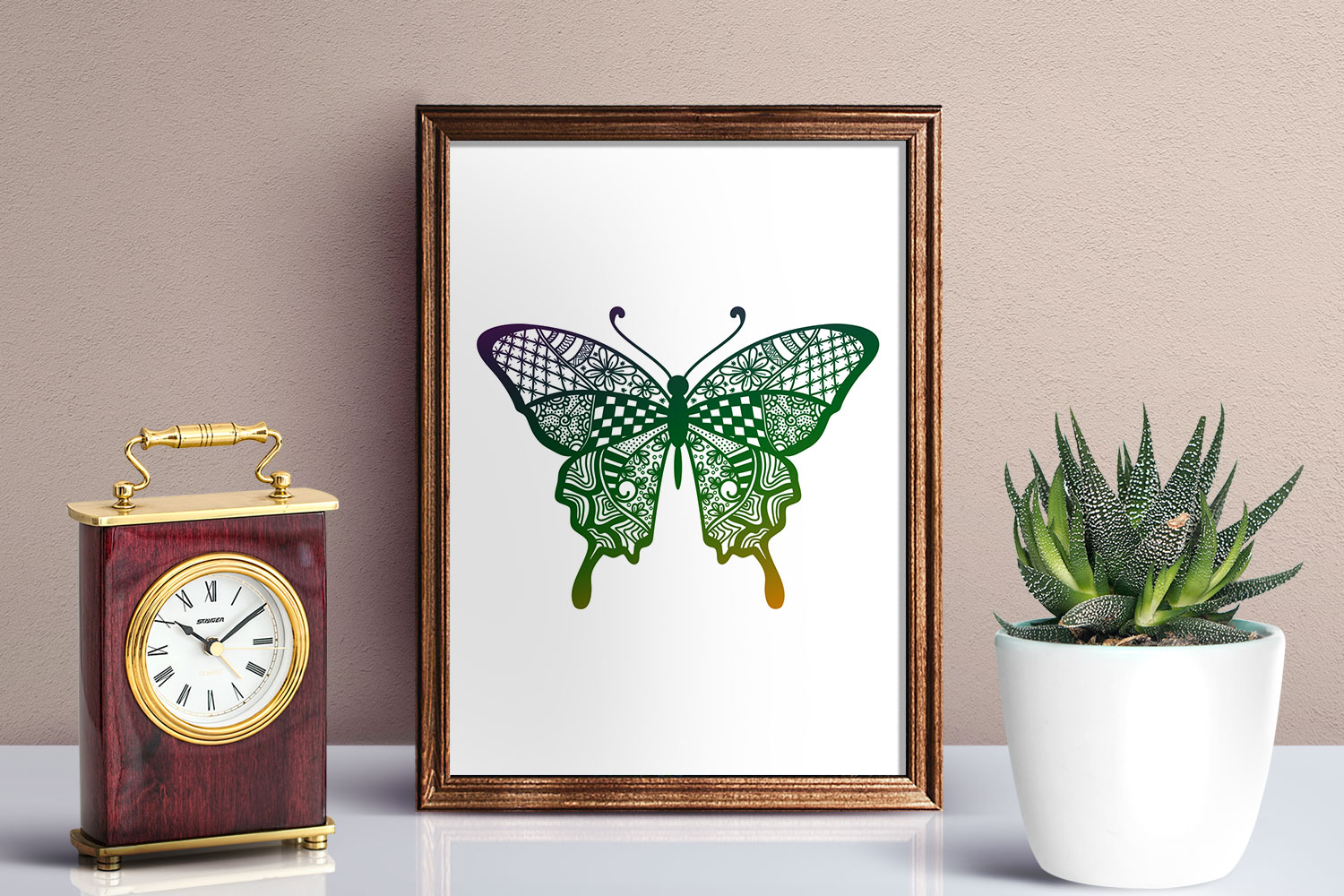 Butterfly Zentangle - Doodle Art SVG example image 2