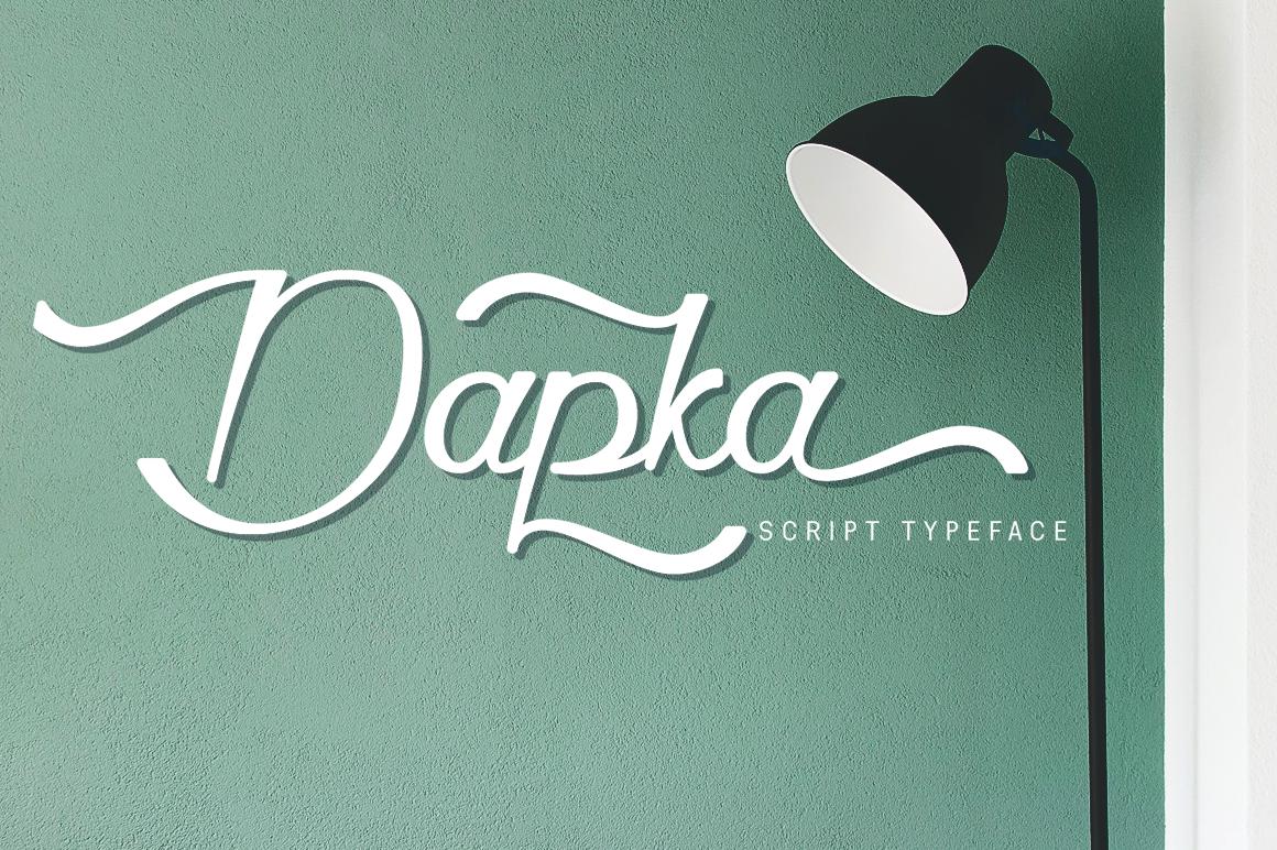 Dapka - Script Typeface example image 1