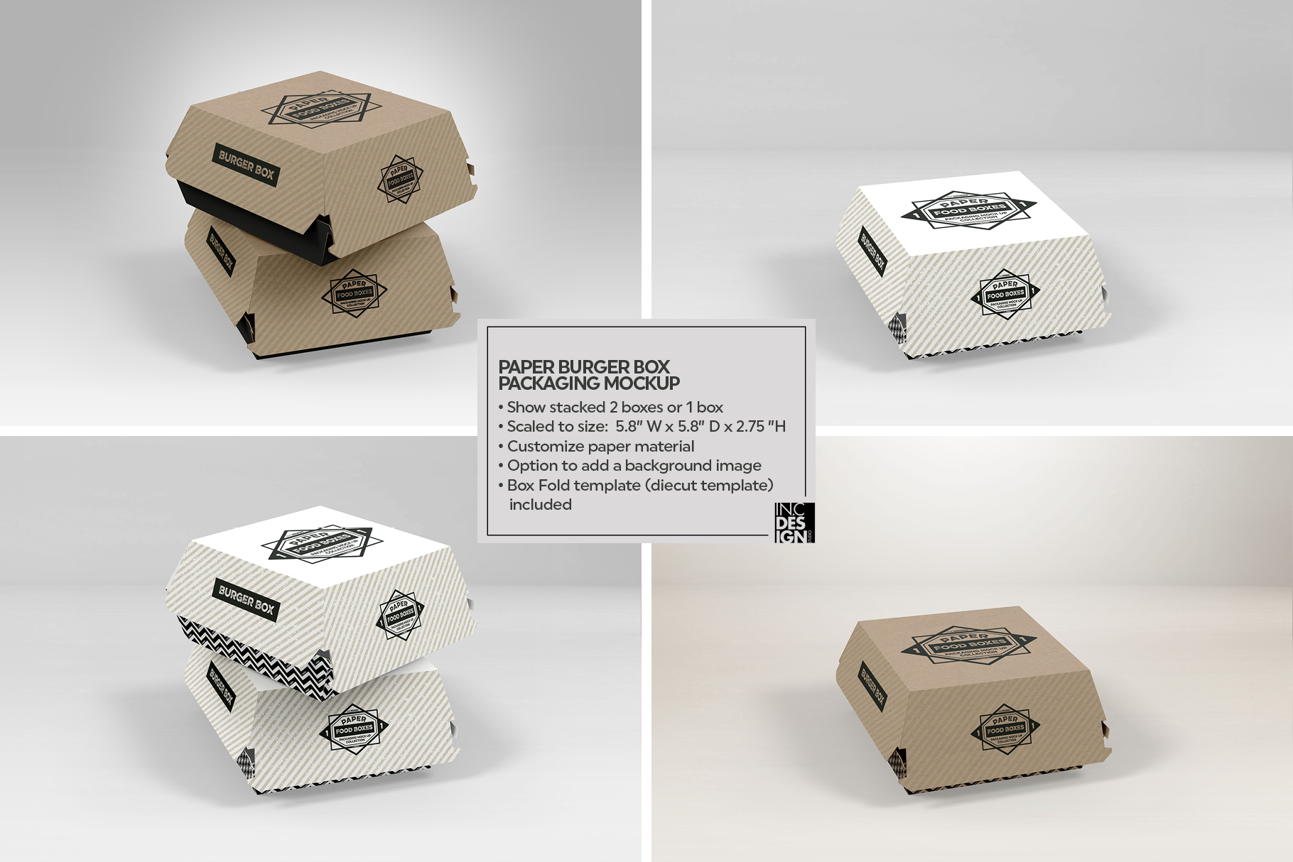 VOL.1 Food Box Packaging MockUps example image 3