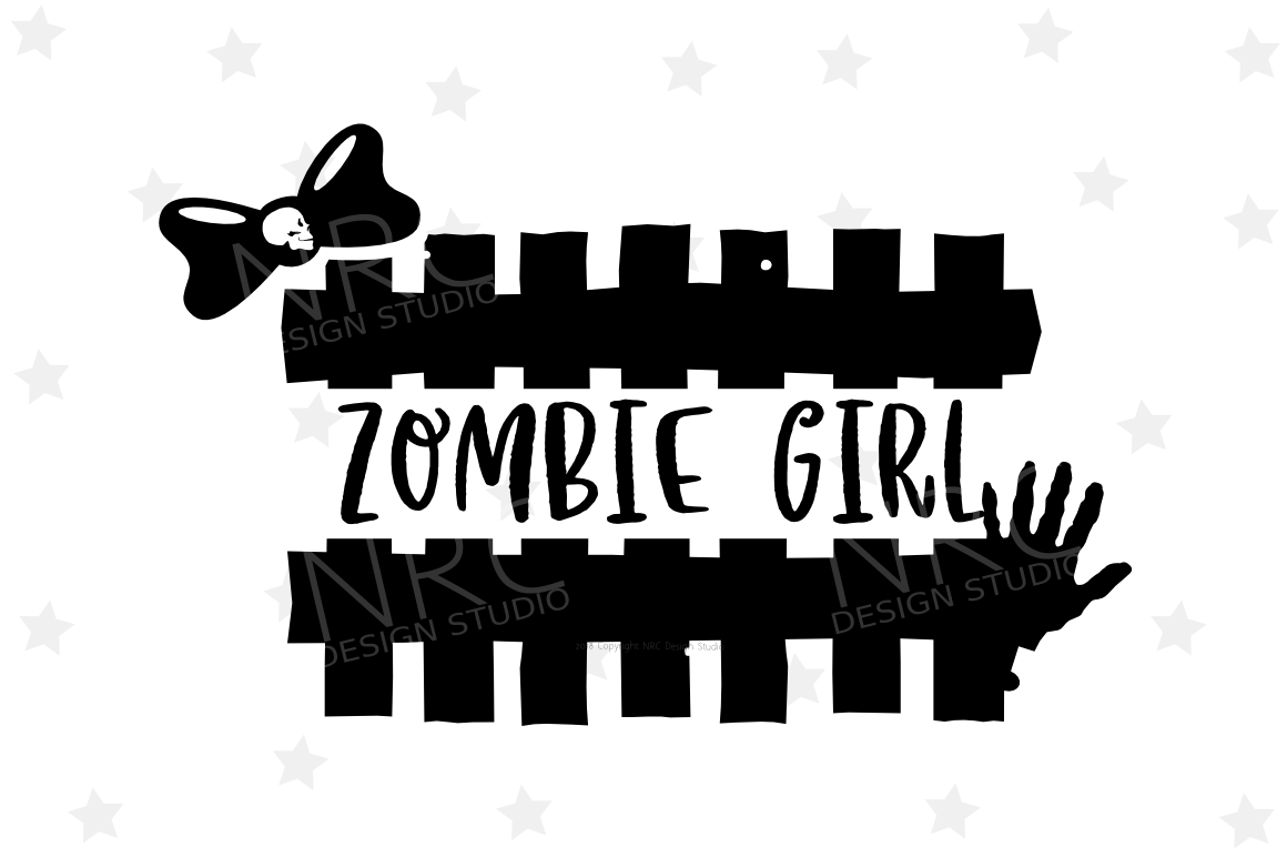 Zombie Girl SVG File example image 1