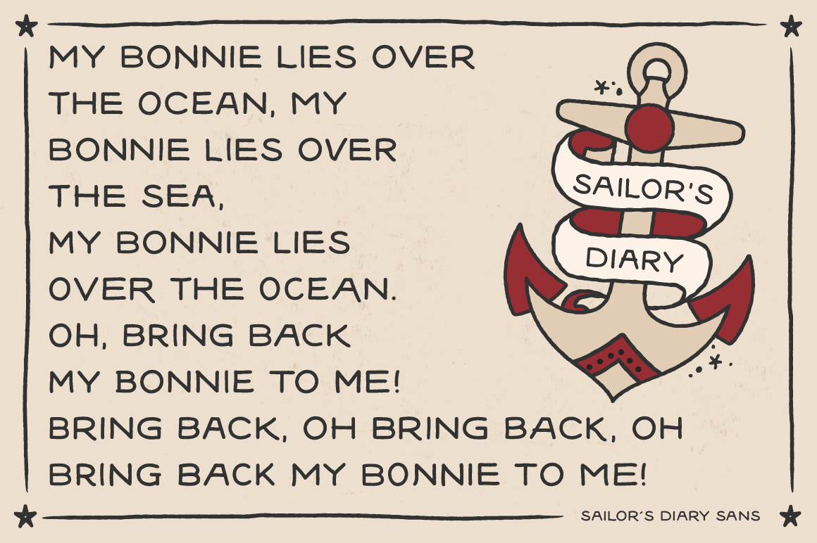 Sailors Diary Sans & Title Slab Tattoo Style Font example image 3