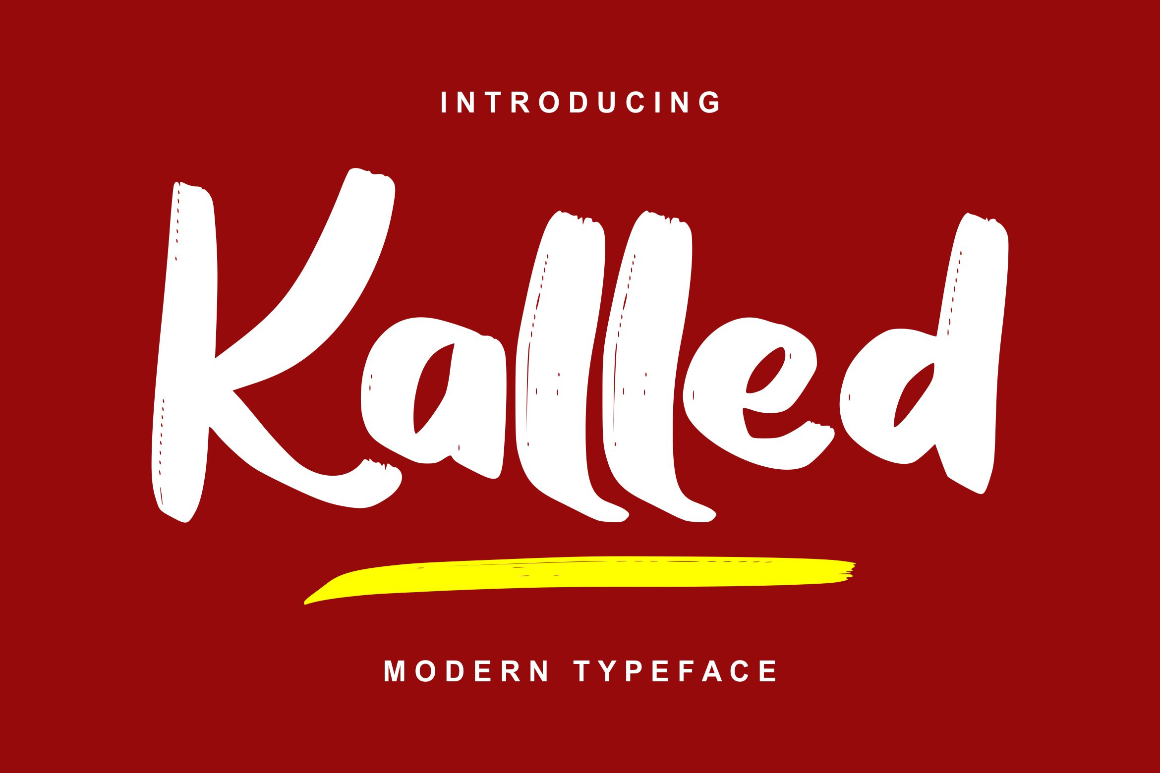 Kalled | Modern Typeface Script Font example image 1