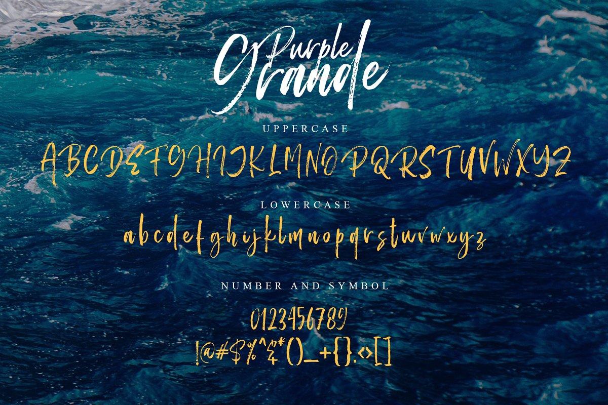Purple Grande - Handwritten Font example image 7