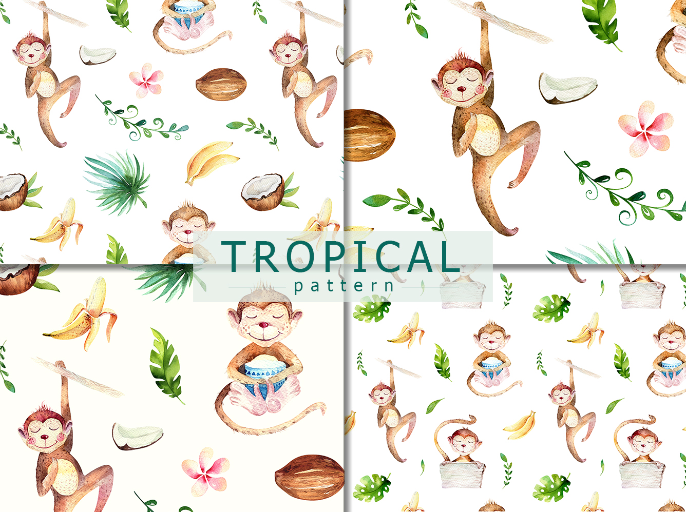 Tropical party II. Monkey collection example image 5