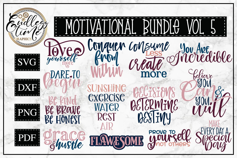 Motivational Bundle Volume 5 -- 13 Motivational Quote SVGs example image 1