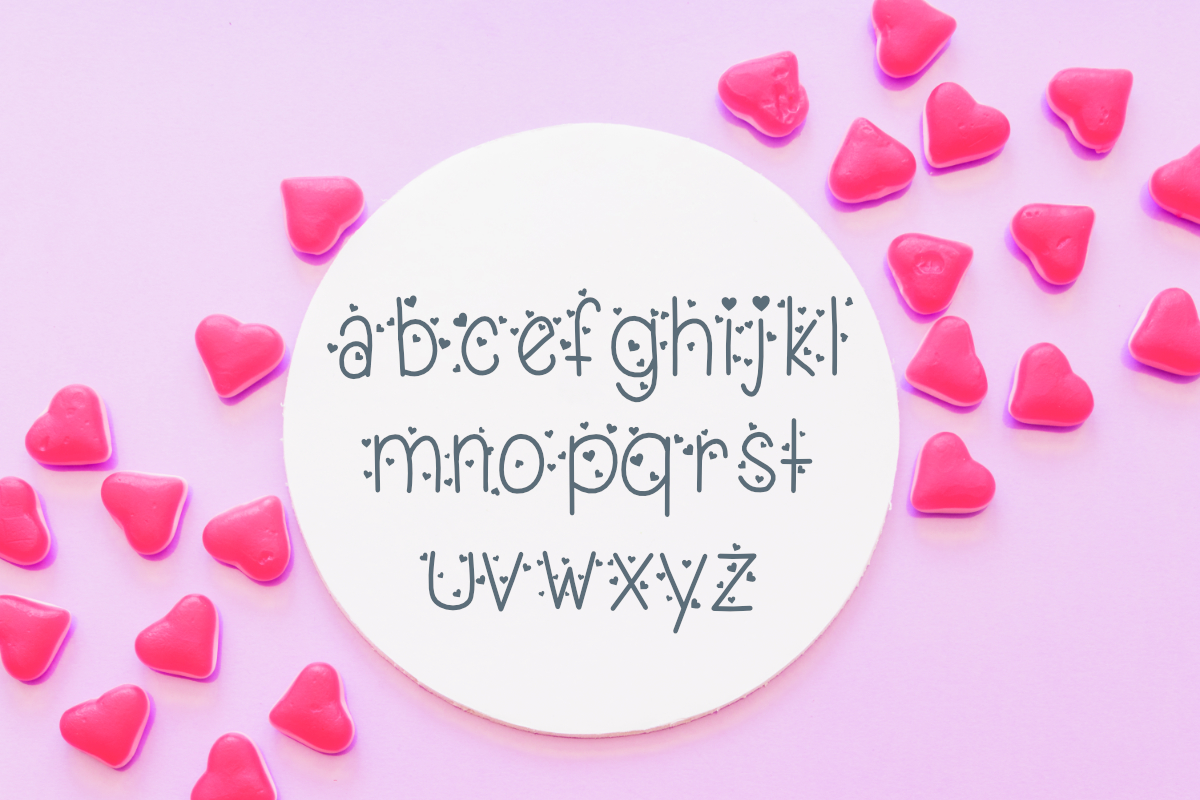 Candy Hearts Valentine Font example image 3