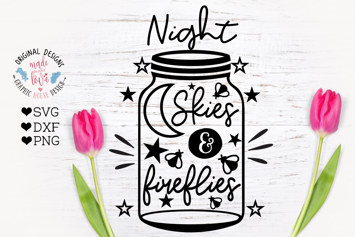 Night Skies and Fireflies - Summer Porch Decor SVG example image 2