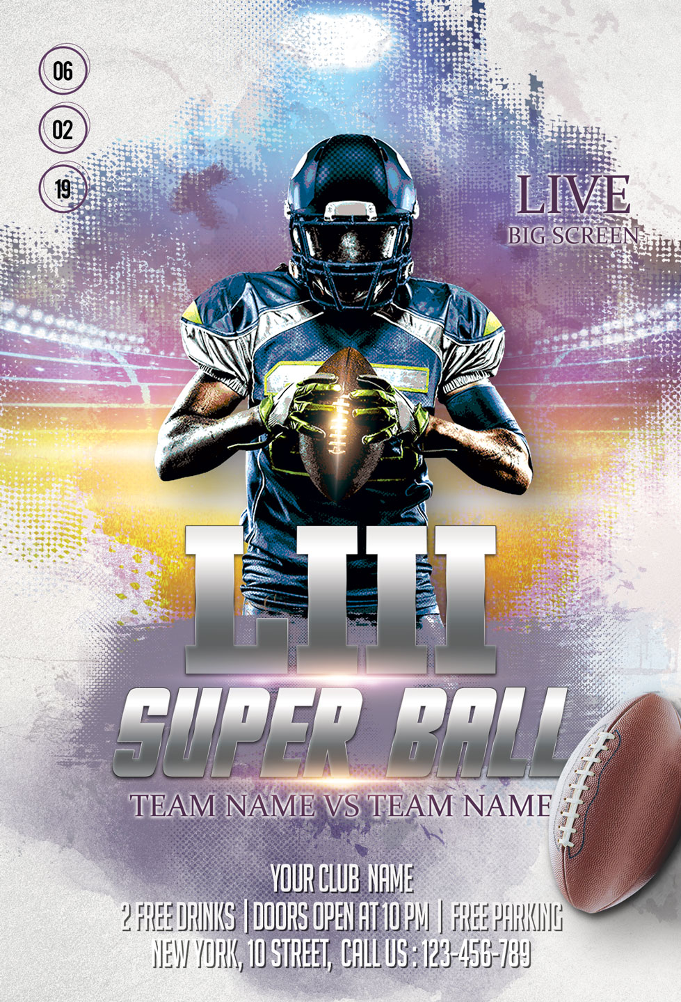 American Football Flyer And Poster example image 4